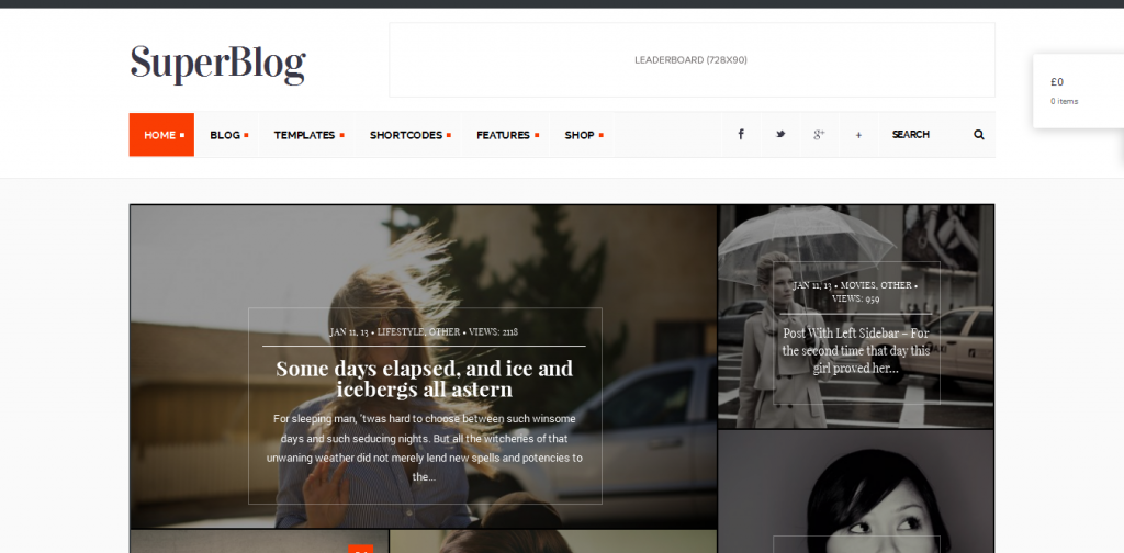 Blog & Magazine Theme