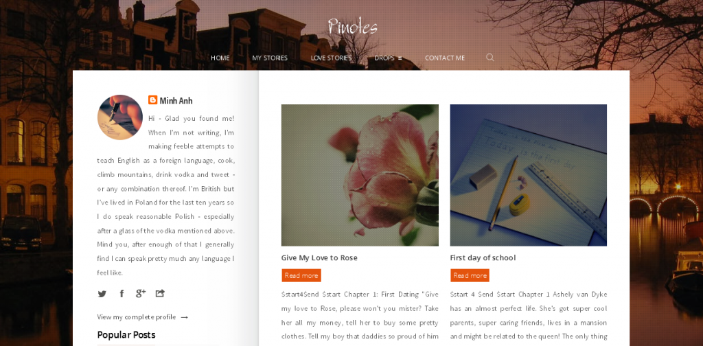 Blogger Template For Writers