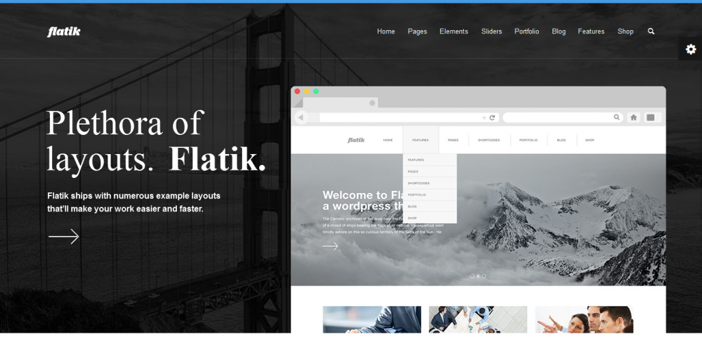 Flat Business WordPress Themes