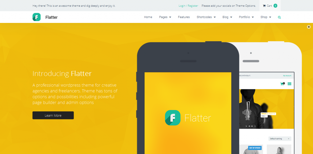 Flat Creative WordPress Themes