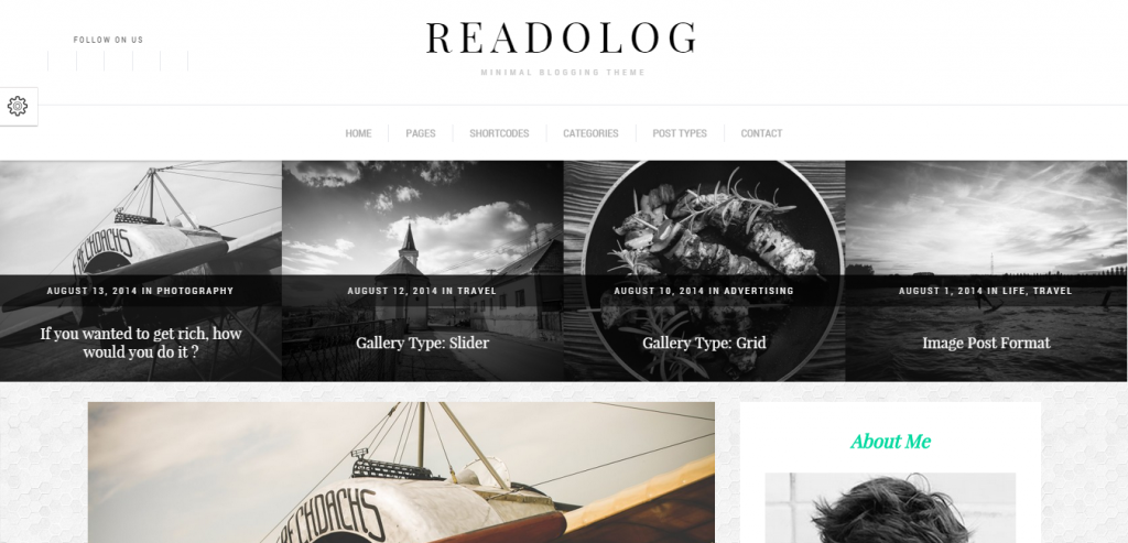 Free Personal Blogging WordPress Theme