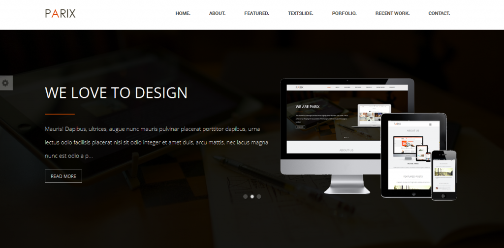One Page Blogger Template