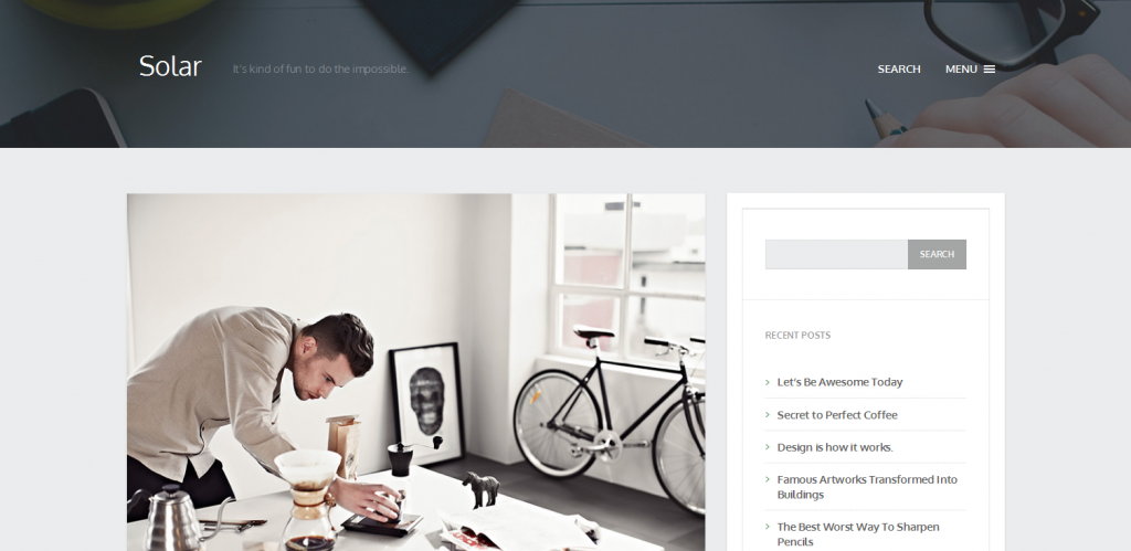 Personal Blogging WordPress Theme