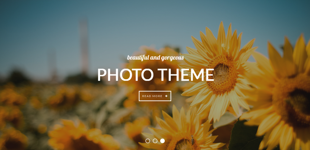 Photography Creative WordPress Theme