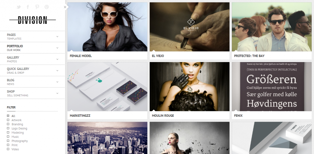 Portfolio Photography Theme