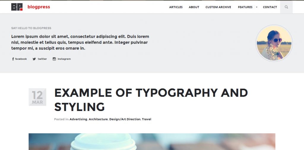 Responsive Blogging Theme