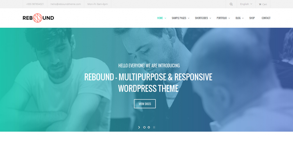 Retina Business WordPress Theme