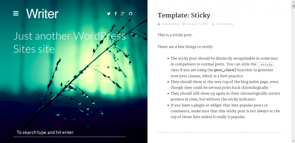 WordPress Bloggin Theme