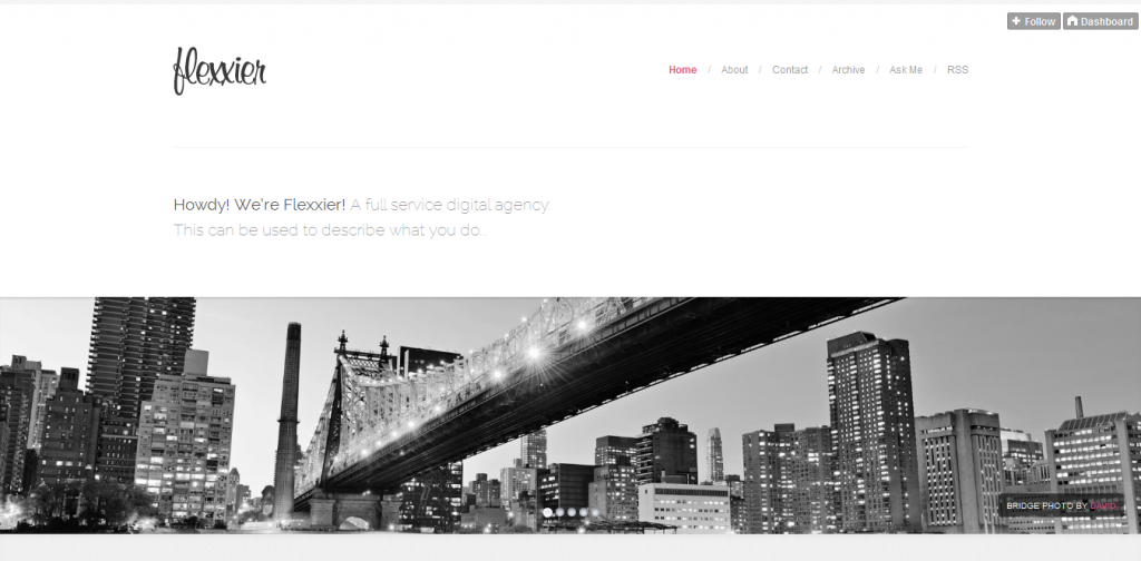 Agency Tumblr Theme