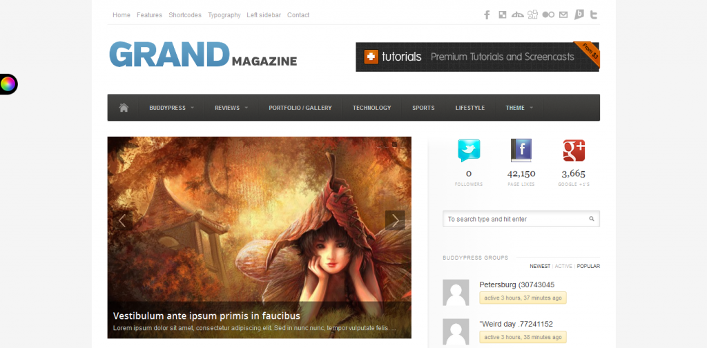 BuddyPress Review Theme