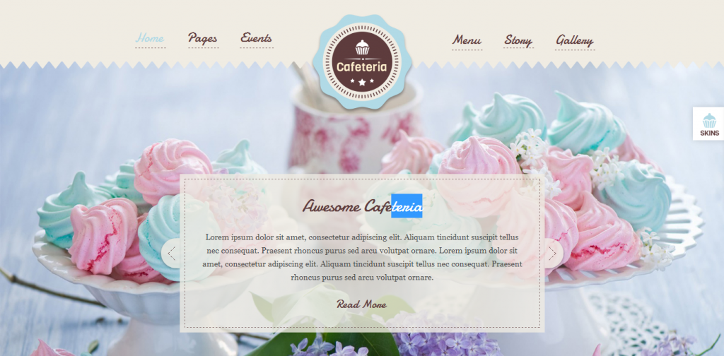Cafeteria WordPress Theme