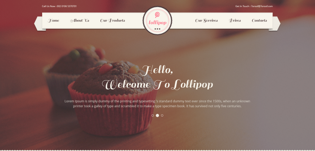 Cakes PSD Template