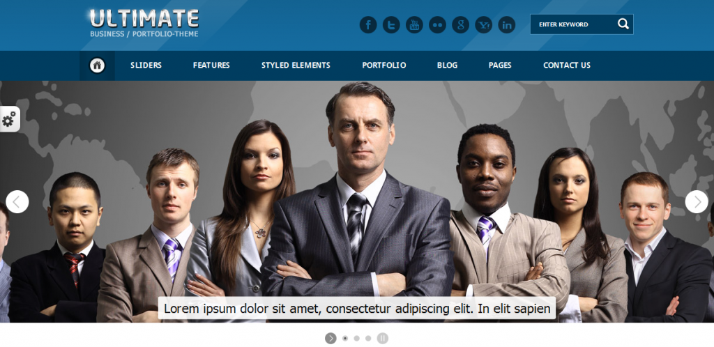 Clean HTML Template