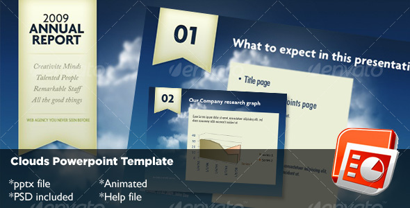 Clouds Powerpoint Template