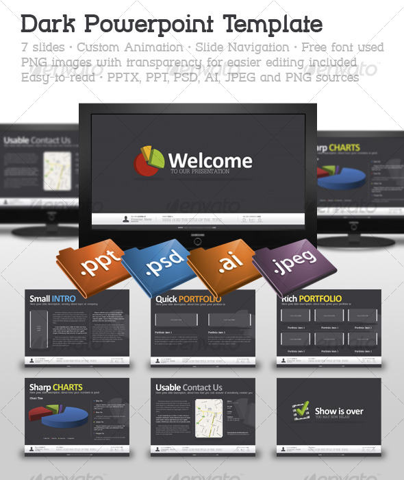 Dark PowerPoint Template