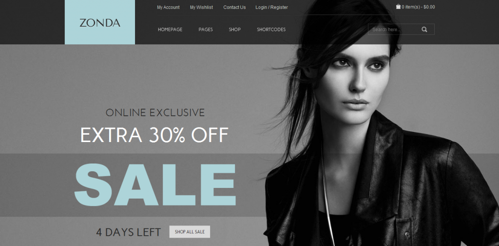 Discount WordPress Theme