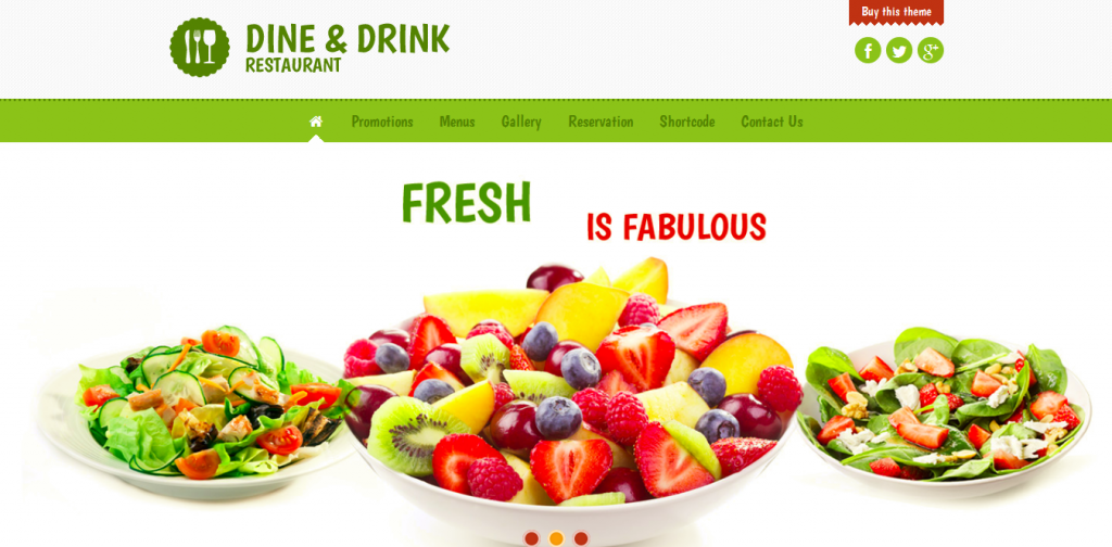 Drink Restaurant WordPress Theme