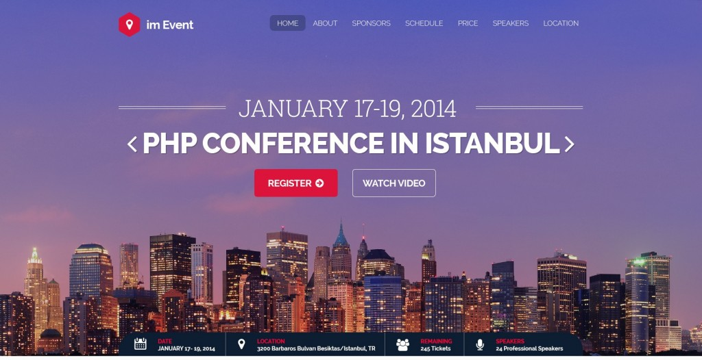 Event Conference PSD Template