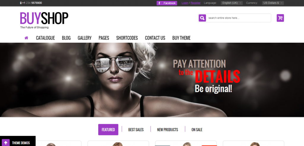 Fluid Joomla VirtueMart templates