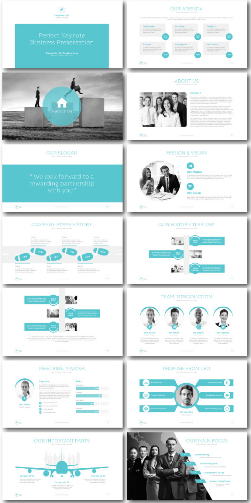 Fluid Keynote Templates
