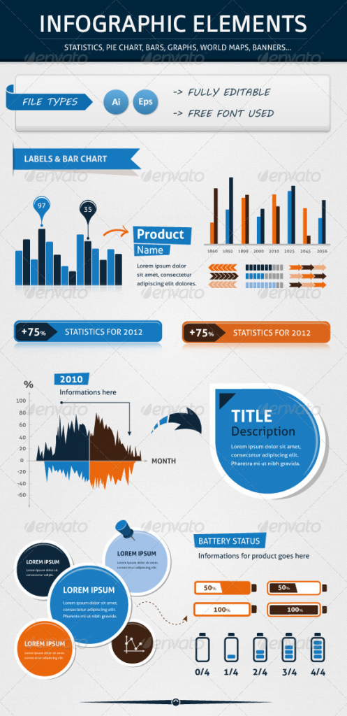 Fluid PSD Infographic Templates