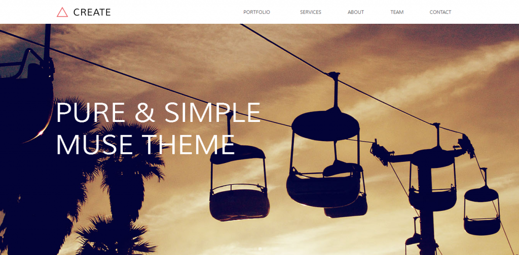 Free Adobe Muse Template