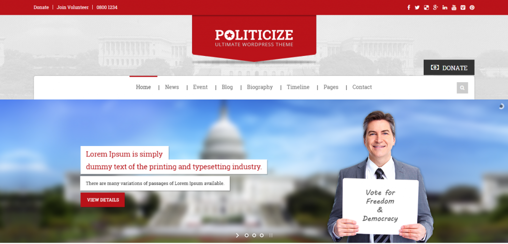Free Politic WordPress Themes