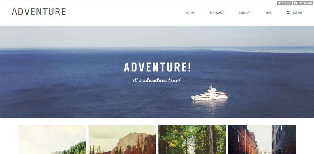 Grid Responsive Tumblr Theme