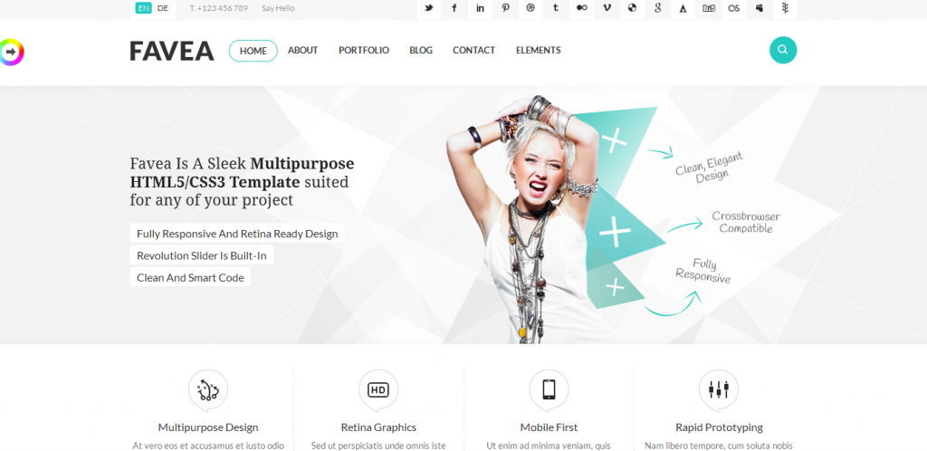 HTML5 CSS3 Template