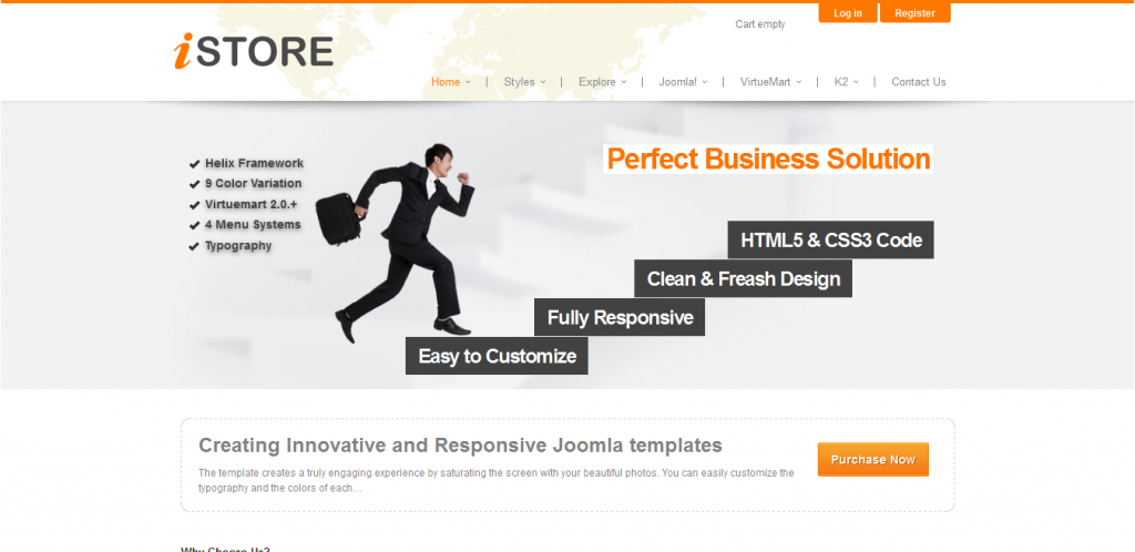 Joomla VirtueMart Template