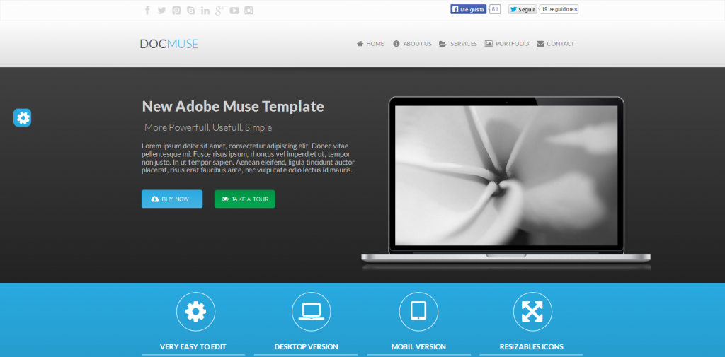 48 Best Adobe Muse Templates | Weelii