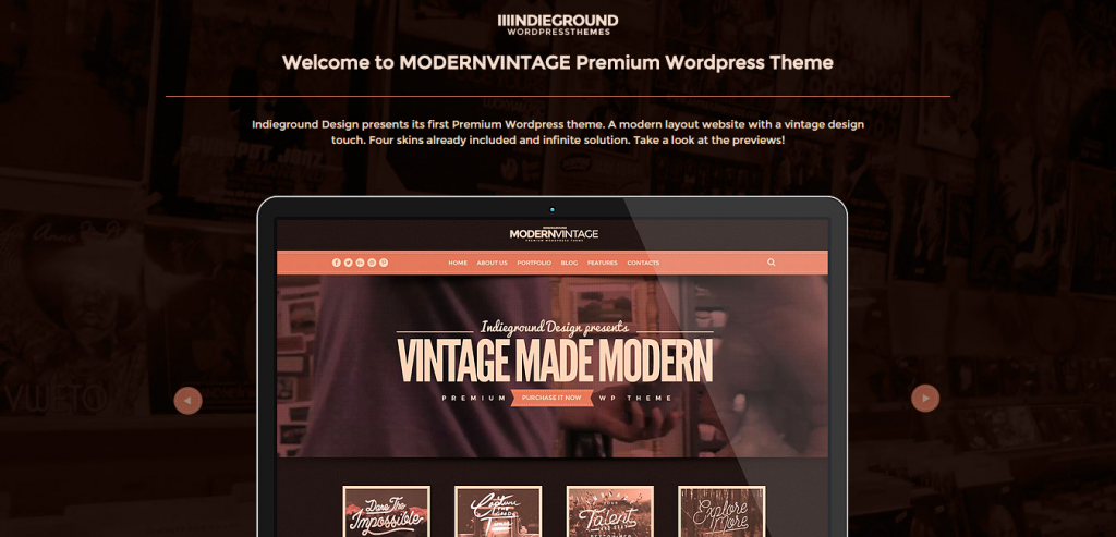 New One Page WordPress Themes