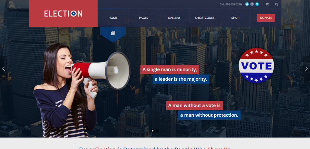 New Politic WordPress Themes