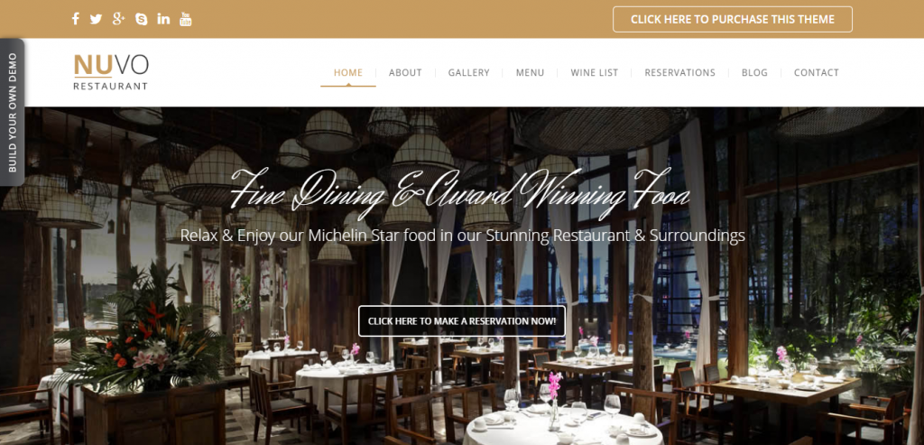 New Restaurant WordPress Themes