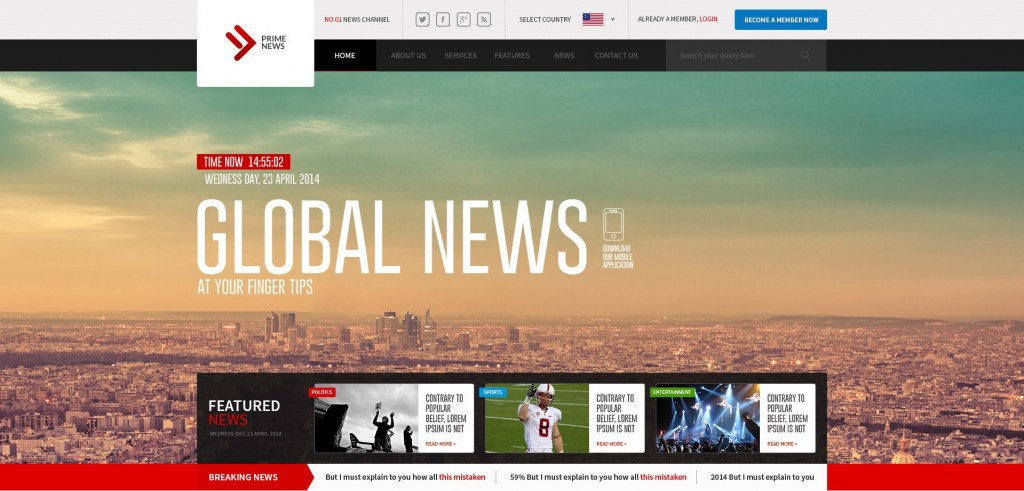 News PSD Template
