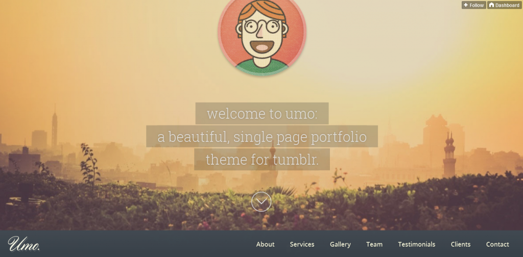 One Page Theme For Tumblr