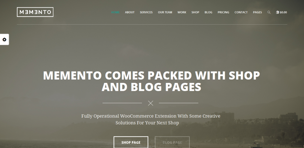 One Page WordPress Theme With WooCommerce