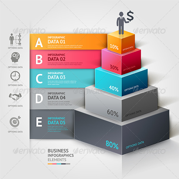 Infographic Ideas 3d paper infographic powerpoint template free download : 55 Best PSD Infographic Templates | Weelii