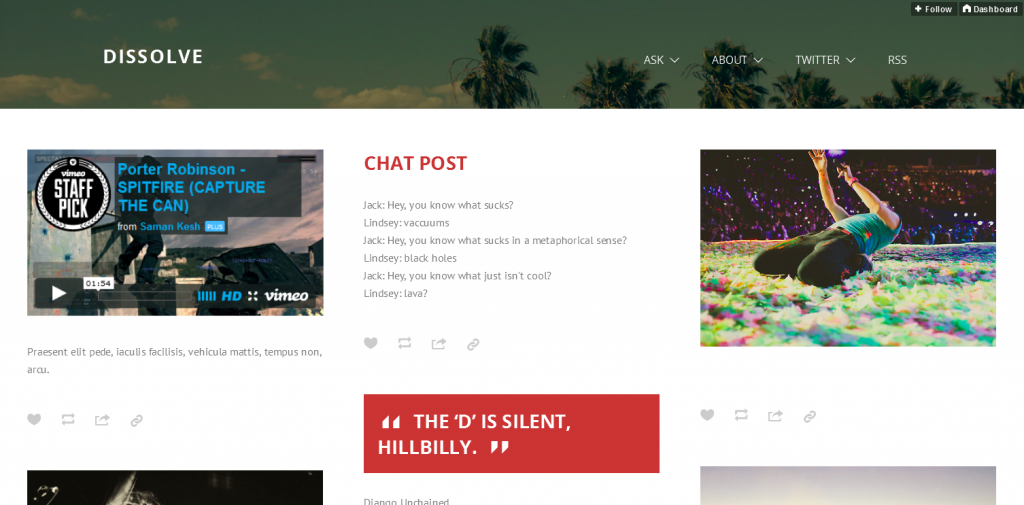 Parallax Tumblr Theme