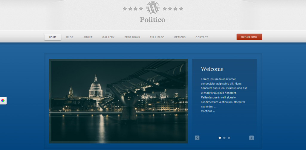 Political Campaign WP Theme