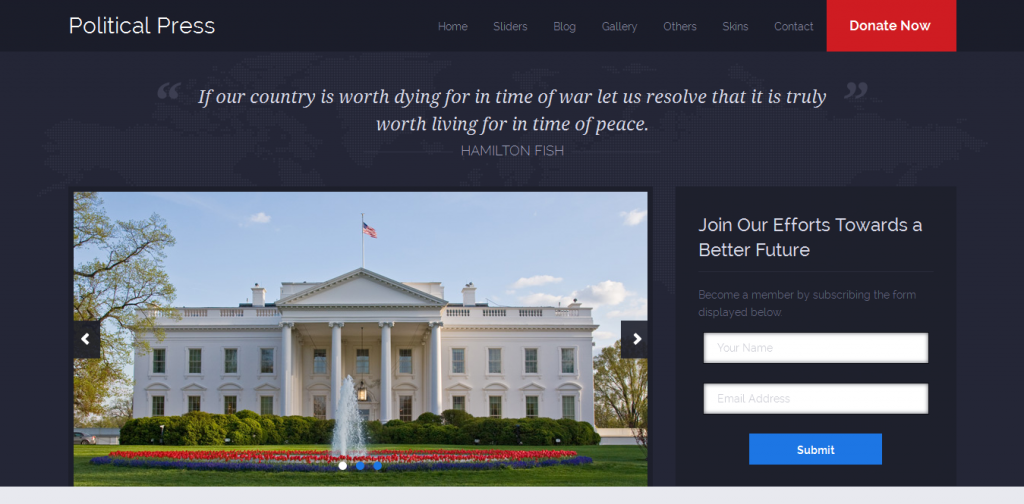 Political Responsive WordPress Theme