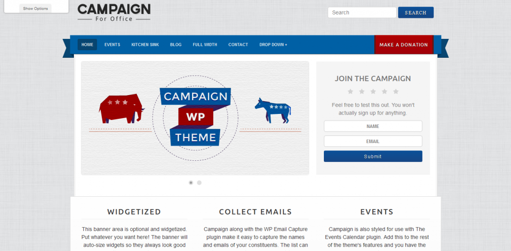 Political WordPress Templates