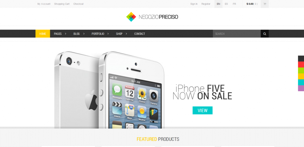 Responsive E-Commerce Theme