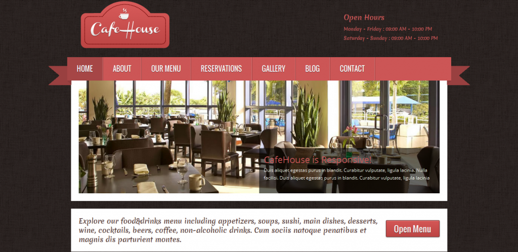 Restaurant WordPress Templates
