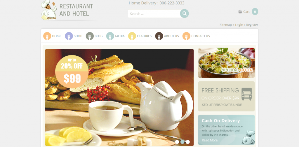 Restaurant eCommerce Theme