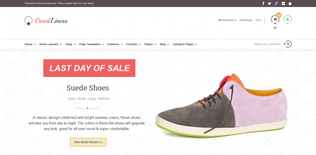 Shoes eCommerce WordPress Themes