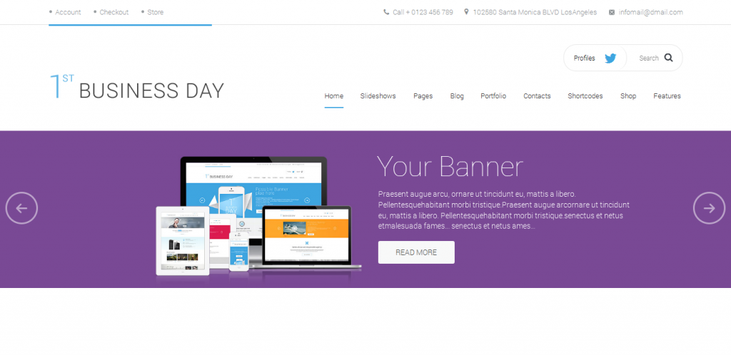Startup HTML Template