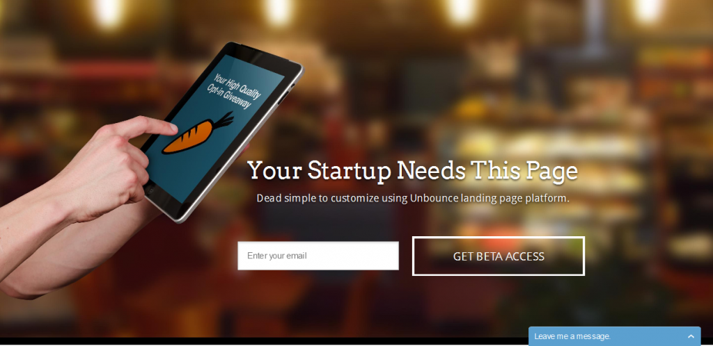 Startups Unbounce Template