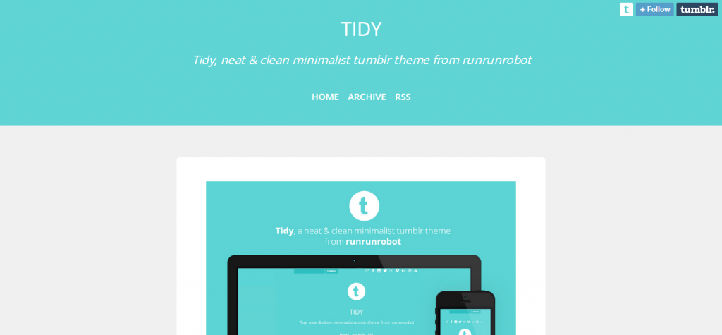 Tidy Tumblr Theme