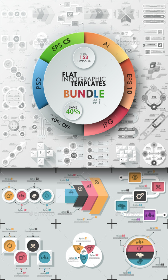 Top PSD Infographic Templates